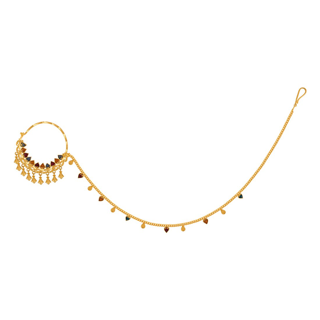 Buy P C Chandra Jewellers 22kt Yellow Gold Nose Ring For Women At Amazon In