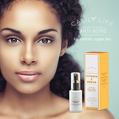 Calily Life Hyaluronic Acid Vitamin C with Dead Sea 1 Oz. Vitamins A, C, B5 and Youthful - Enrichens,