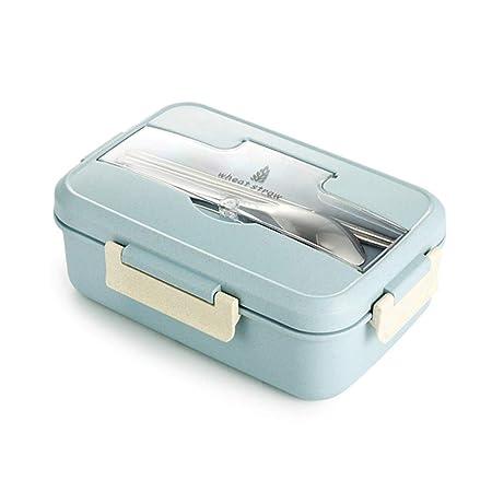 YUTALOW - Caja de bento, vajilla de Paja de Trigo, contenedor para ...