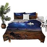 Bed Sheet Set, Night Sky Desert Monument Valley