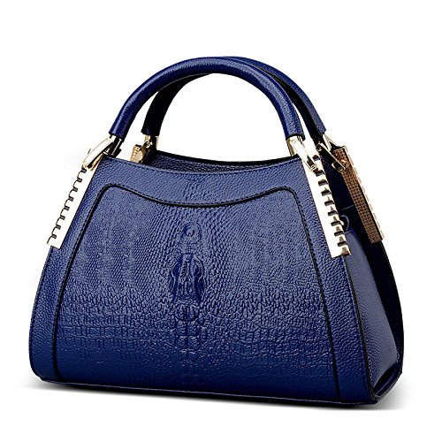 Bolso Diagonal De Hombro Portátil De Mujer Moda En Relieve Blue
