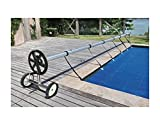 Stainless Steel 21 ft InGround Swimming Pool Cover Reel Tube Set Solar Cover Great Quality