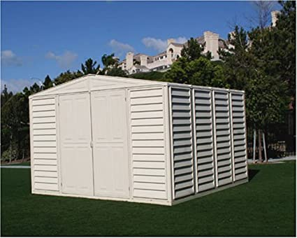 Duramax Model 00411 10x10 WoodBridge Vinyl Storage Shed & Amazon.com : Duramax Model 00411 10x10 WoodBridge Vinyl Storage Shed ...