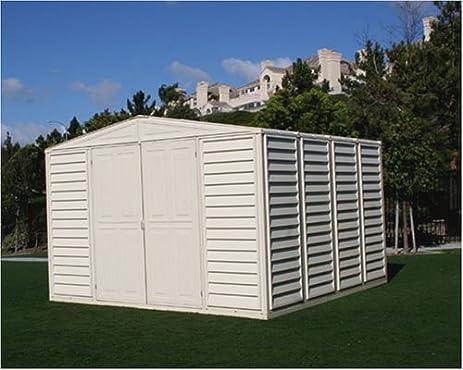 duramax model 00411 10x10 woodbridge vinyl storage shed