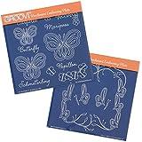 Groovi Plates - Butterflies (Set of 2) by Groovi