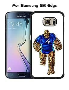 DC Marvel Galaxy S6 Edge Funda Case Fantastic Four Quirky Cool Superhero Drop Proof Anti Slip Drop Protection Hard Funda Case & Cover For Samsung Galaxy S6 Edge (Only fit for S6 Edge)