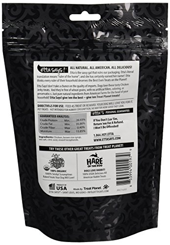 Image of Etta Says! USA All Natural Chicken Jerky for Dogs 5 oz
