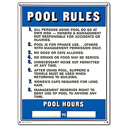 Amazon.com : Poolmaster Sign for Residential or Commercial ...