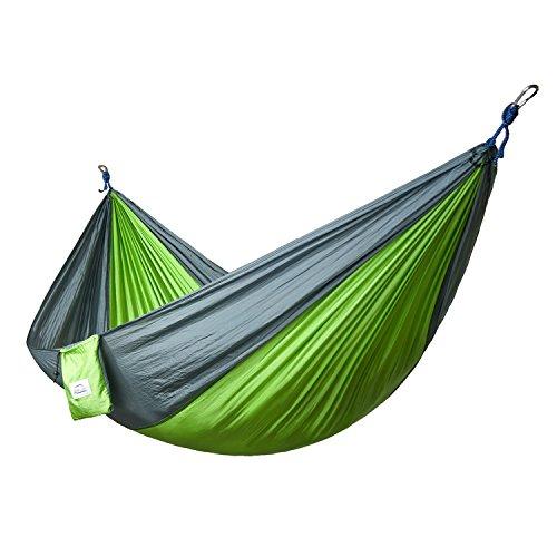 Double and Single Camping Hammocks Ultralight Portable Nylon Parachute Multifunctional Hammocks for Light Travel