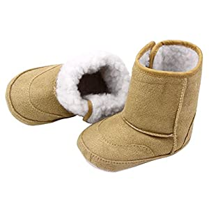 Baby Toddler 6-18 Month Prewalker Shoes Cute Warm Winter Snow Boots (XX-Large(9-12 Month), Brown)