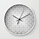 Society6 Not Another Grey Pillow Wall Clock White Frame, Black Hands