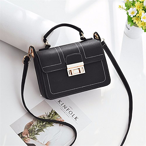 Female Shoulder MSZYZ Black New Holiday Satchel Bag gifts Single Bag wXxCE
