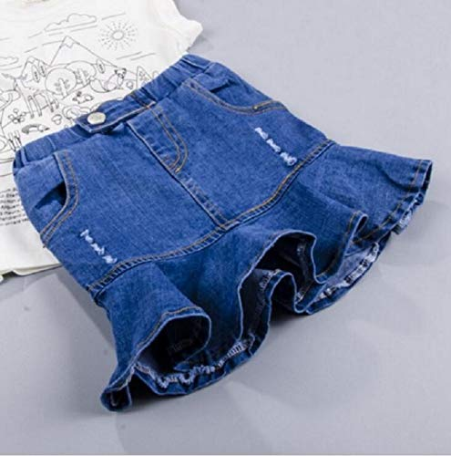 TreeMart Girls Denim Skirts Summer Style s Clothes Toddler Girl Falbala Jean Tutu Skirt Baby ren Fashion Fish Tail Skirt