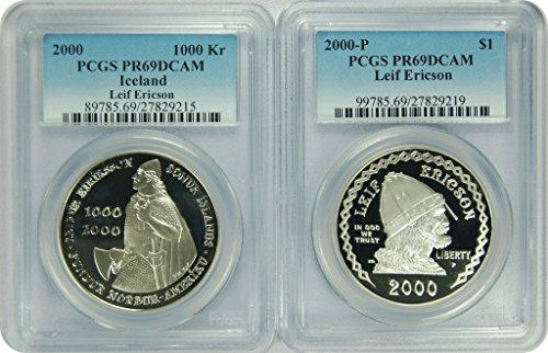 2000 P Leif Ericson/Iceland Dollar 1000 Kr New PCGS Label Dollar DCAM PCGS PR-69
