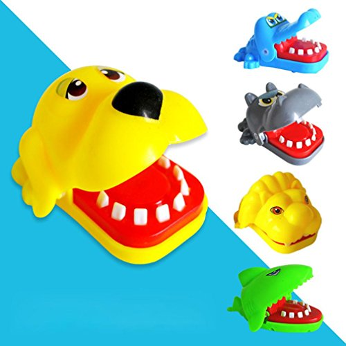 LLguz Creative Dogs Bite Finger Toys Buster's Bones Beware Dog Party Game Parent-child Interactive Game (B)