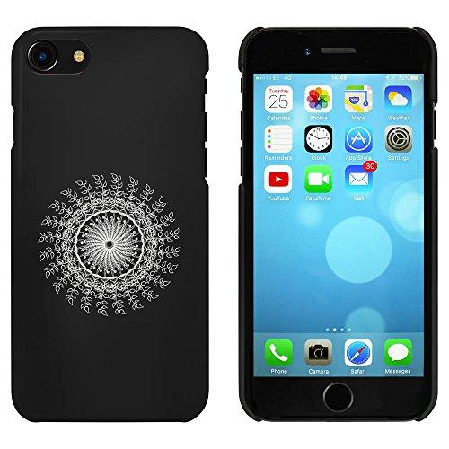 Noir 'Mandala Feuilles et Champignons' étui / housse pour iPhone 7 (MC00075893)