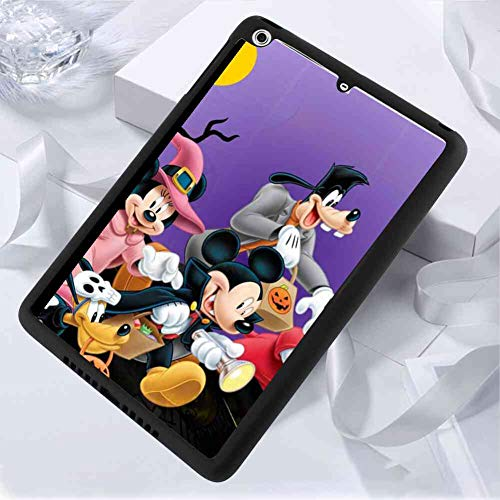 iPad Case Fit iPad Mini 2 7.9in Halloween Mickey Mouse and Minnie Mouse Goofy Donald Duck Pluto Disney Halloween Wallpaper]()