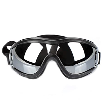 Runfon - Gafas de Sol para Mascota, Impermeables, Cortavientos, Ajustables, protección Solar, Gafas de Sol para Perros Grandes y medianos