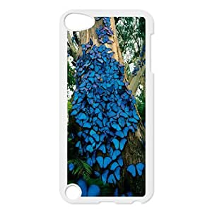 Blue Butterfly Colony Ipod Touch 5 Case, Cool Case Case for Ipod Touch 5 Pharrel {White}