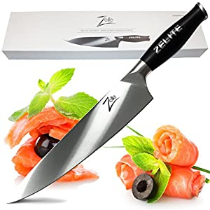 "ZELITE INFINITY Chef Knife Extra Length >> Comfort-Pro Series >> High Carbon Stainless Steel Knives X50 Cr MoV 15 - 10"" (254mm)"