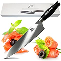 """""""Want To Prepare Food Exactly like Master Chef's do on the Cooking Shows? Prepping & Cooking Just Got So Much Easier. You're Going To Absolutely Love This Professional Chef Knife..""""Best Value Chef Knife On Amazon! Premium Quality, Infinit..."""