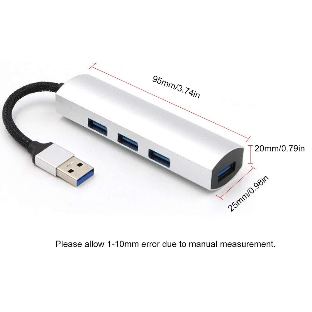 Festnight Hub USB 3.0 de 4 Puertos Hub de Datos Port/átil de Alta Velocidad Adaptador de Extensi/ón de Interfaz Multipuerto para Mac//PC//USB Flash Drives y Otros Dispositivos