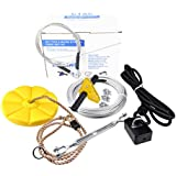 CTSC 95 Foot Zip Line Kit For Kids and Adult(less then 250lb) with Brake and Seat, ZipLine Trolley For Backyard Entertainment Equipment, A Surprise Gift For Children (yellow)