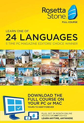 Software : Learn Languages: Rosetta Stone Desktop Download + 24 Month Online Subscription