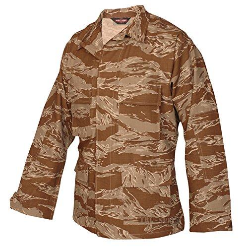 Tru-Spec BDU Coat Cotton Desert Tiger Stripe M-Long 1596024 (Bdu Stripe Jacket Tiger)