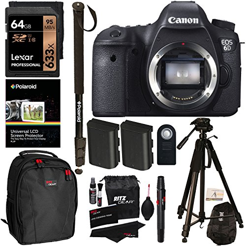 Canon 6D EOS 20.2 MP CMOS Digital SLR Camera Body Only +