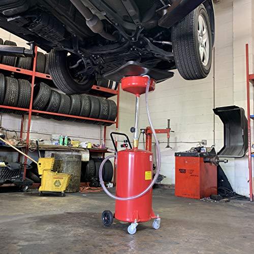 ARKSEN 20 Gallon Portable Waste Oil Drain Tank Air