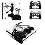 Vanknight PS4 Slim Console Dualshock Controllers Skin Set Vinyl Decal Sticker for Playstation 4 Slim Console For Sale