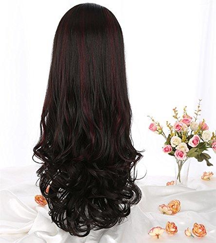 Wig FANGQIAO SHOP1 Parrucca 68cm Parrucca di alta qualità Cosplay per le Donne, Corto, pieno, riccio, Grande ondulata, e resistente al calore. Parrucca di Glamour di Moda (Nero) (Color : Black)]()