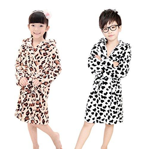 Neutral Thicken Leopard Bathrobe Nightgown