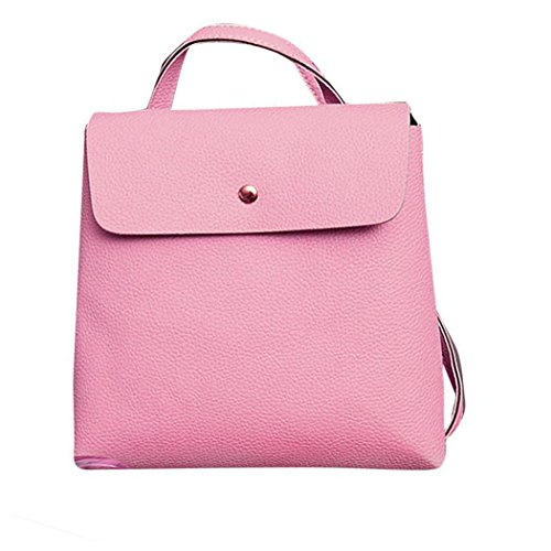 Womens Bag Backpack Fashion School Travel Satchel Leather Rucksack Bags Inkach Purse Pink 6OdwzqnOT