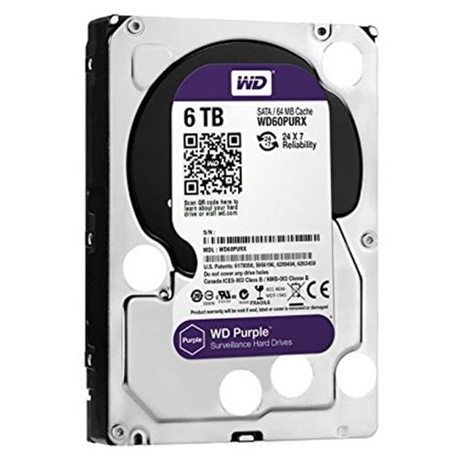 WD Purple 6TB Surveillance Hard Disk Drive – 5400 RPM Class SATA 6 Gb/s 64MB Cache 3.5 Inch – WD60PURX [Old Version]