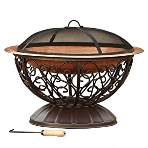 Rst brands copper fire pit with cover for Amazon prime fire pit