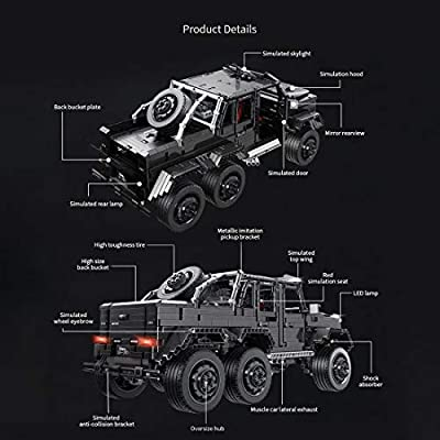 WOLFBSUH Race Car G63 Building Set STEM Toy, 3300Pcs 1:8 Building Blocks and Engineering Toy Sports Car Model: Toys & Games