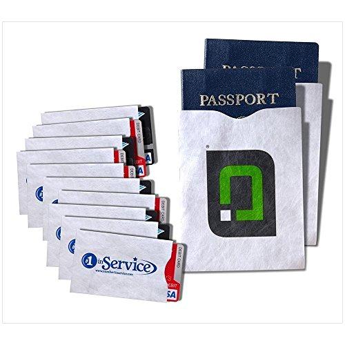 RFID Blocking Sleeves 10 Credit Card and 2 Passport Protectors Photo #8