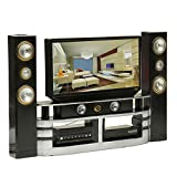 Miniature Hi-Fi TV Cabinet Set Combo For Barbie Doll House Furniture Living Room Decoration DIY Dollhouse Accessories ZevenMart