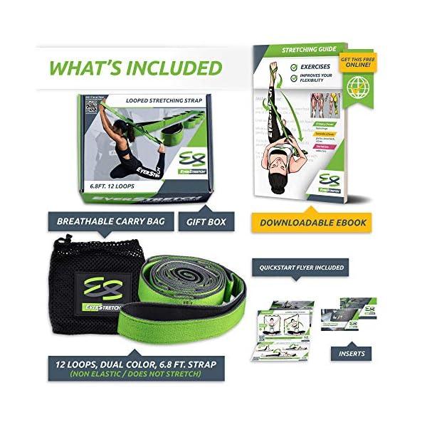 EverStretch Non-Elastic Cinghia Yoga Non Elastica ad Anelli - Cintura ad Anelli, Fascia per Stretching con Passanti… 3 spesavip