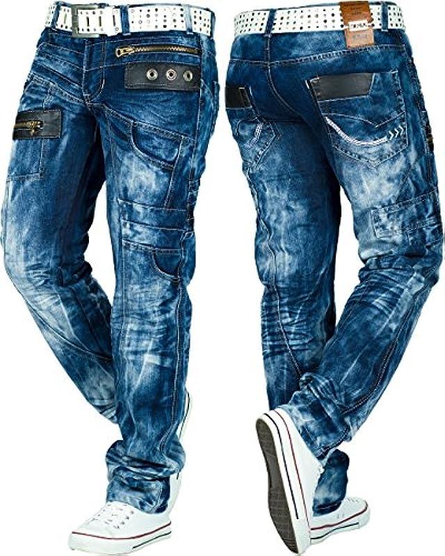 Kosmo Lupo Męskie dżinsy spodnie specjalne wzory: Odzież