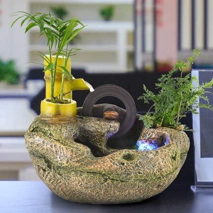 Amigos Fuentes de jardín de Piedra Estanque de Peces Decorativos Feng Shui té Oficina Rueda de Escritorio Bonsai Enviar Regalos pequeños: Amazon.es: Hogar