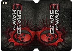 Leather Smart Cover With Flip Stand Phone Case iPad mini 4-gears of war skull-30