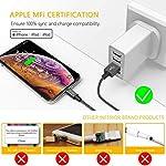 Gritin-Cavo-iPhone-Certificato-Apple-MFi-2M-Cavo-Lightning-a-USB-ad-Alta-velocit-Nylon-Intrecciato-Cavo-di-Ricarica-Veloce-per-iPhone-XS-Max-X-XR-8-7-6s-6-Plus-SE-5-5s-5c-iPad-iPod