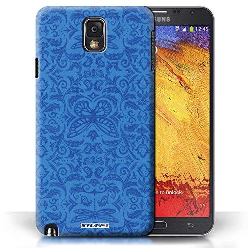 Etui / Coque pour Samsung Galaxy Note 3 / Bleu conception / Collection de Motif médaillon