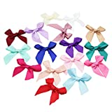 DYLANDY Satin Ribbon Bows for DIY Crafts Wedding Decoration Sewing Embellishments - 50PCS, Assorted Colors