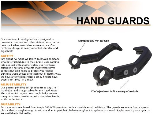 WOODCRAFT RACING HAND / BRAKE AND CLUTCH LEVER GUARD ASSEMBLY - BOTH SIDES