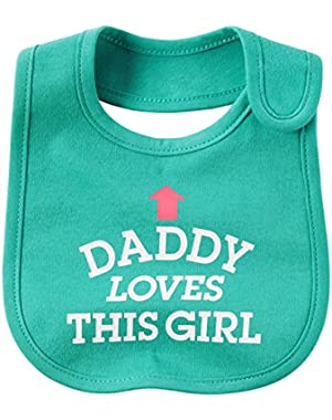 Baby Girls' Daddy Loves This Girl Bib