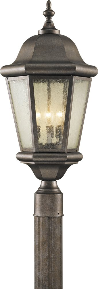 Feiss OL5907CB Martinsville 3-Light Post, Corinthian Bronze by Feiss
